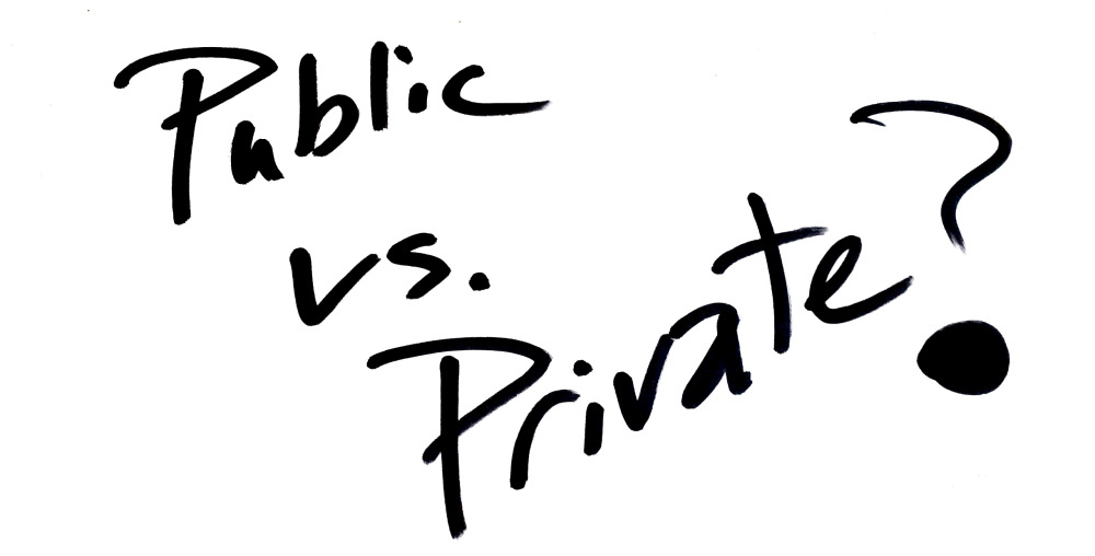 public versus private the great debate Private versus public it's a debate that rages across the playgrounds and living rooms of america in fact, according to a 2009 greatschools and harris interactive poll, nearly one in four parents are currently considering switching their child's school either from private to public or public to private as a result of the economy.